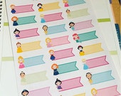 Princess flag planner stickers great for all planners  life planner happy planner filofax etc