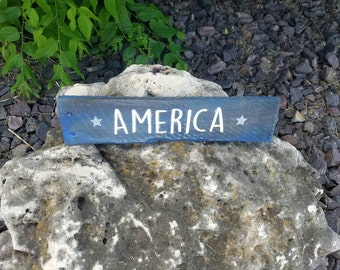 America, Pallet Sign, Rustic Patriotic, 4th of July Decor
