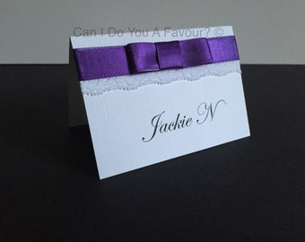 10x wedding place cards Sara style On the Day stationery place settings