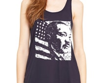MLK Martin Luther King Day USA American Flag Tank Top