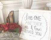 John 15:12 Hand Lettered ...