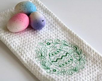 Easter Egg redwork towel gift for 10 dollars