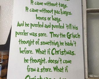 The Grinch Christmas Sign