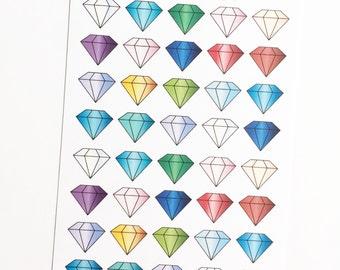 40 Small Gemstone Stickers