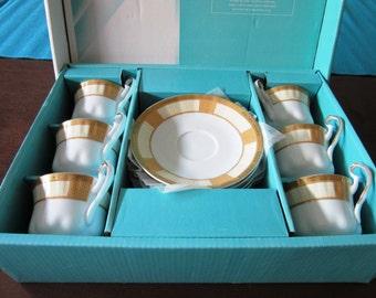 vintage full new set of espresso Porceline cups and saucer , fine porceline, fine chinaese porceline