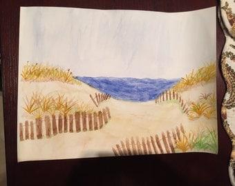 Quiet Beach Scene