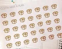 Package Icon Planner Stickers for Erin Condren, Happy Planner, Filofax, Scrapbooking