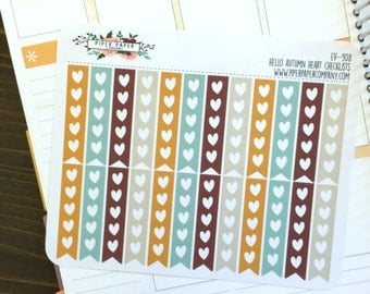 EV-908 // Hello Autumn Heart Checklist Stickers