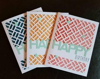 Birthday Card Trio - Sorbet