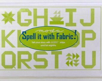 Spell it with Fabric pattern book, Moda Fabrics PSABC