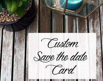 Custom Save the Date card design