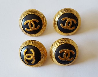 4 buttons Coco Chanel metal diameter 2 cm - 12282