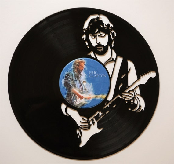 Eric clapton vinyl record wall art for Vinyl record wall art