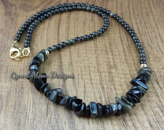 Golden Obsidian Necklace