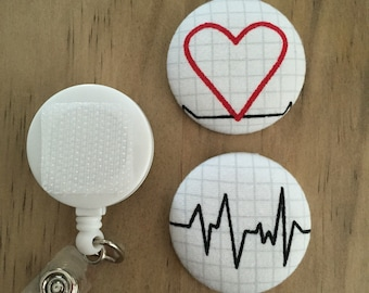 EKG II Button Badge Reel Set