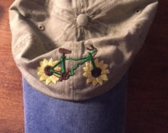 Idaho Sunflower Bike Hat