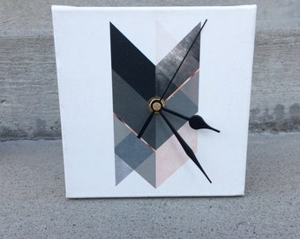 Desk Clock: Chevron Arrow, Print Avenue