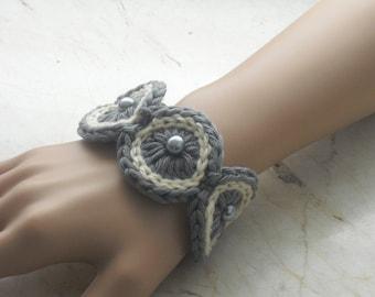 Bracelet - bracelets - bracelet - jewelry - Cuff Bracelet - crocheted bracelet - handmade - crochet - crochet