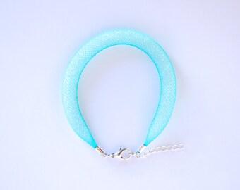 Bracelet mesh turquoise Gummy Bluefish