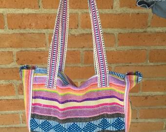 Large woven handbag