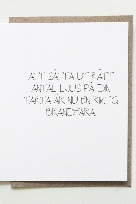 Funny swedish birthday card for birthday roligt vykort kort like this item bookmarktalkfo Choice Image