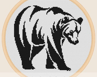 Black bear - Cross stitch pattern