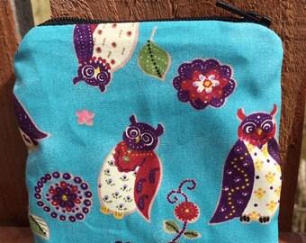 Handmade owl coin purse