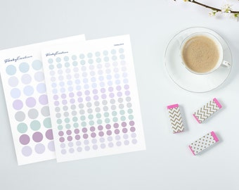 Ashenville Inkwell Printable Stickers/Instant Download/Small and big dots - FS049a/FS049b