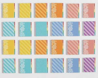 Planner icons inn Soft Colors - fits most horizontal and vertical planners