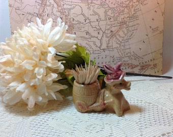 Vintage Burro Toothpick Holder Decorative Accent