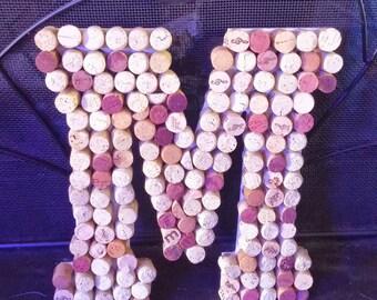 "Cork Letters, Wine Cork letters A-Z, Cork Letter, Wine Corks, 13"" Letter, Personalized Cork Letters, Large Cork Letters"