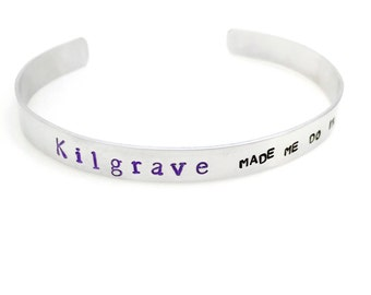 Marvel Universe inspired Kilgrave Cuff Bracelet | hand stamped | marvel comics | jessica jones | zebediah kilgrave | villian | david tennant