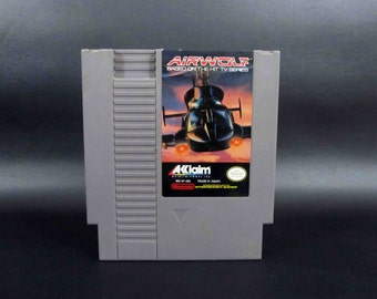 "Vintage ""Airwolf"" Game for Nintendo Entertainment System."