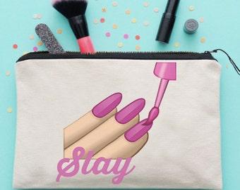 Slay Emoji Make Up Bag Cosmetics Bag Make Up Case Cosmetics Case *NEW* Fun Gift Ideas
