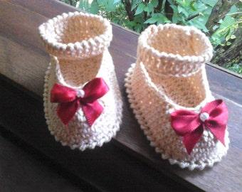 Crochet shoes - Rose