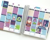 Monsters Aren't Scary Stickers Weekly Kit - For use with Erin Condren Vertical Lifeplanner
