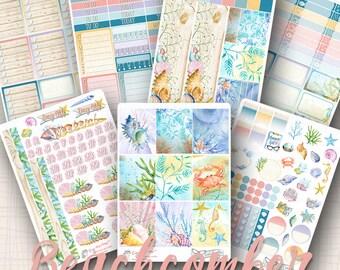 Erin Condren Weekly Kit | Beachcomber | 227 Stickers Total | #SK05BEACHCOMBER