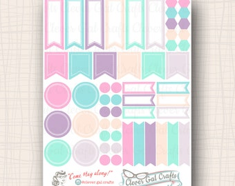 Functional Planner Stickers   Sensible Shapes Sampler   Millie Palette   54 Stickers Total   #SS11MILLIE