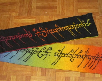 Lord of the Rings knitted scarf - baby wool