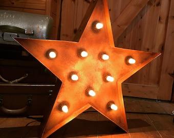 Light Up Rusty Star