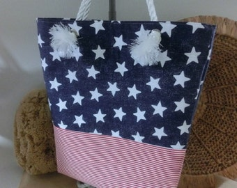 Stars and Stripes Decorative Beach Bag/Tote Bag