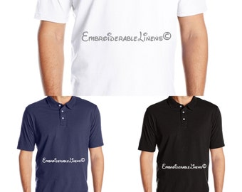 Send us your Shirts and we will embroider your logo on them! Perfect for a new business, or custom shirt requests!