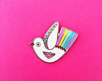 Pretty Bird Enamel Pin