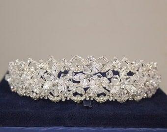 Sublime Wedding Tiara, Bridal Tiara, Rhinestone Bridal Tiara - HFF776620
