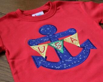 Anchor Applique Shirt