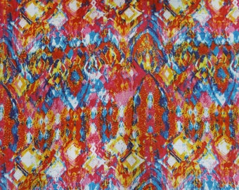 "Pure Indian Cotton Multicolor Abstract Printed Pattern 45"" Wide Sewing Crafting Apparel Dressmaking Designer Fabric Material By 1 Yd ZBC5361"
