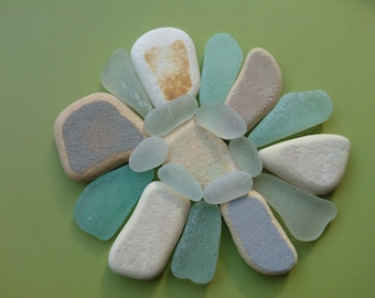 Sea pottery and sea glass mix , beach pottery , sea glass , Scottish sea glass , Scottish beach pottery , genuine sea glass , mosaic pieces