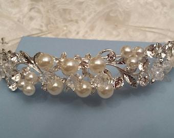 Bridal Headband, Rhinestone Hair Piece