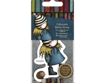 Collectable Rubber Stamp - Santoro - No. 35 The Friendly Hedgehog