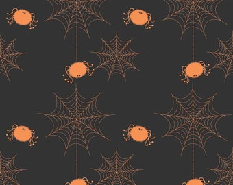 Spider Webs Black by Riley Blake Designs - Halloween Holiday Basic - Quilting Cotton Fabric - by the yard fat quarter half